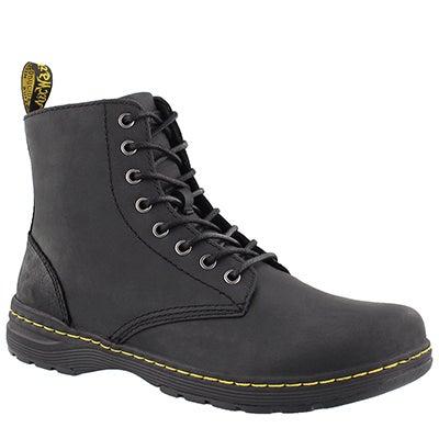Mns Monty black oily lthr combat boot