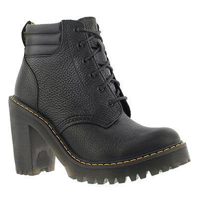 Lds Persephone black lace up bootie