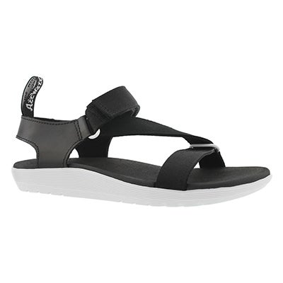 Lds Balfour Z Strap bk/wt casual sandal