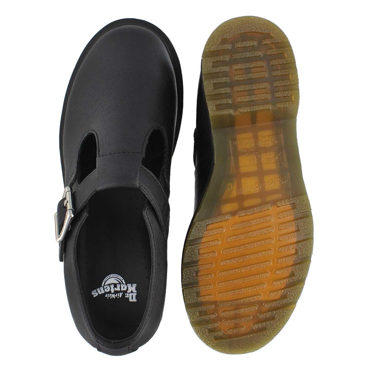 Lds Polley Plain Welt black slip on shoe
