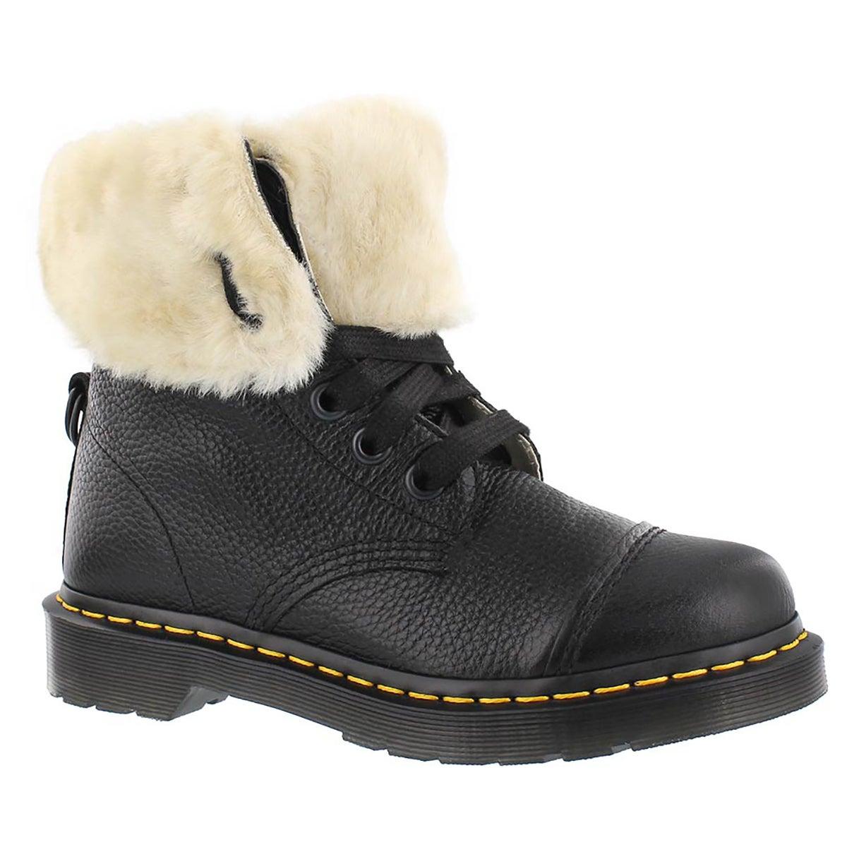 Lds Aimilita FL 9-eye black combat boot