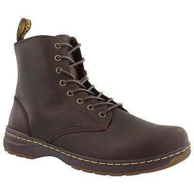Mns Monty brown oily lthr combat boot