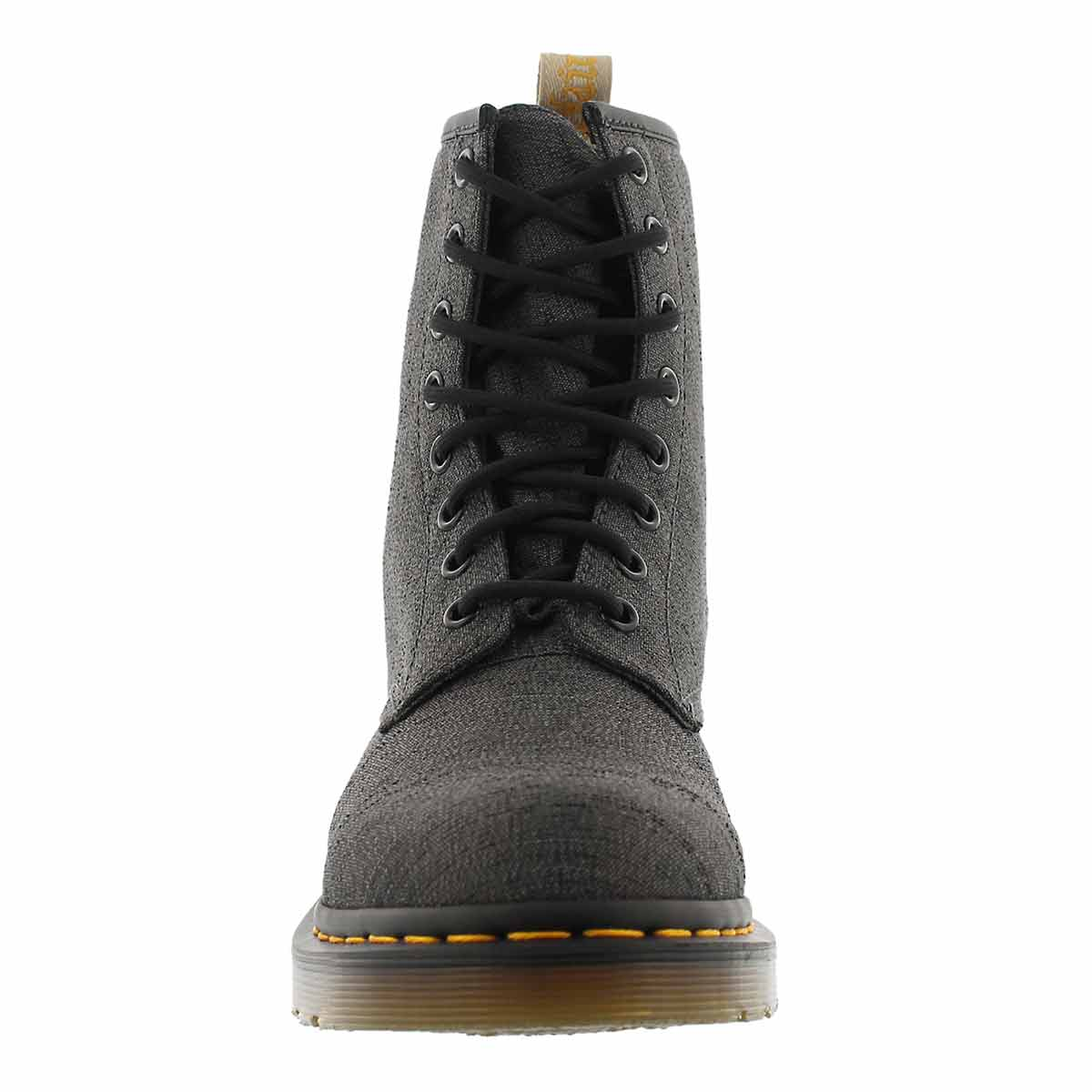 Lds Vegan Castel 8-Eye gunmetal boot