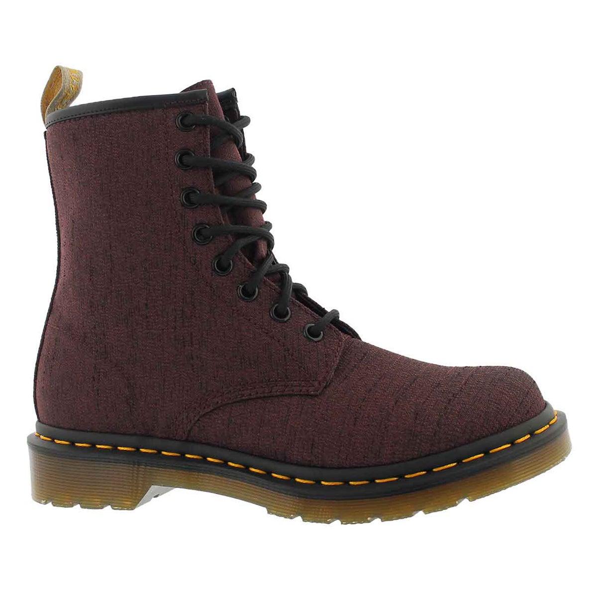 Women's VEGAN CASTEL 8-Eye cherry boots
