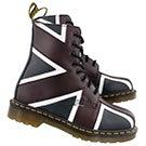 Lds Pascal Brit 8-Eye oxblood/blue boot