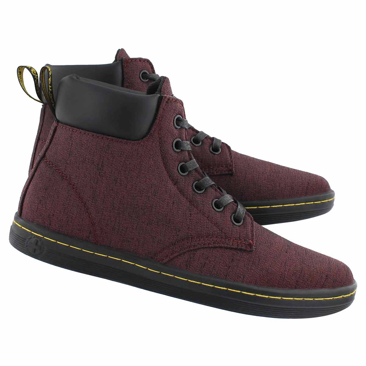Lds Maelly 6 eye cherry ankle boot