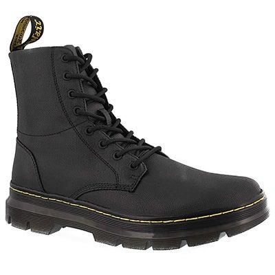 Mns Combs black cnvs combat boot