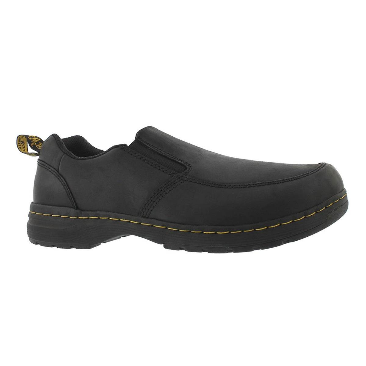 Men's BRENNAN black slip on casual shoe