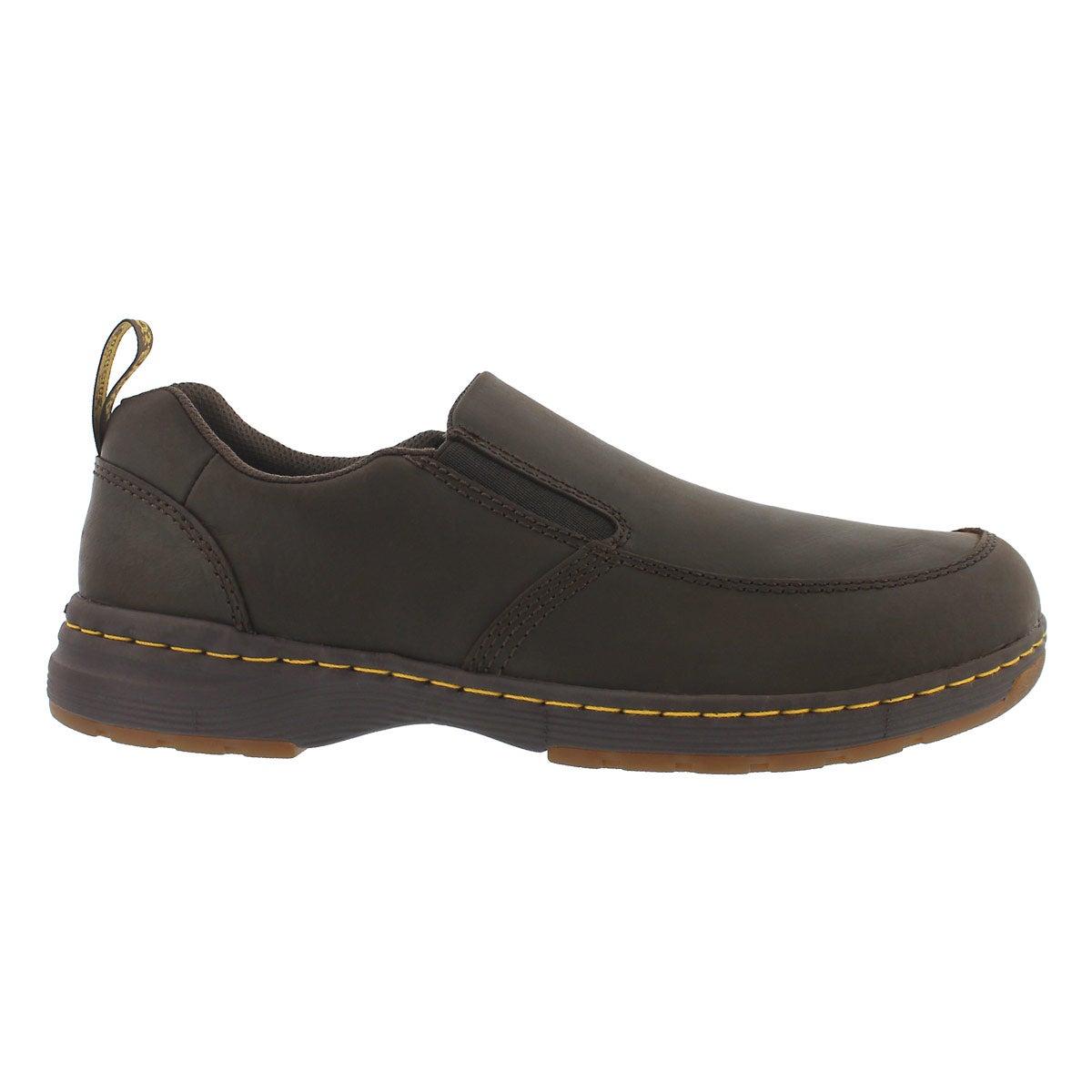 Mns Brennan brn lthr slip on casual shoe