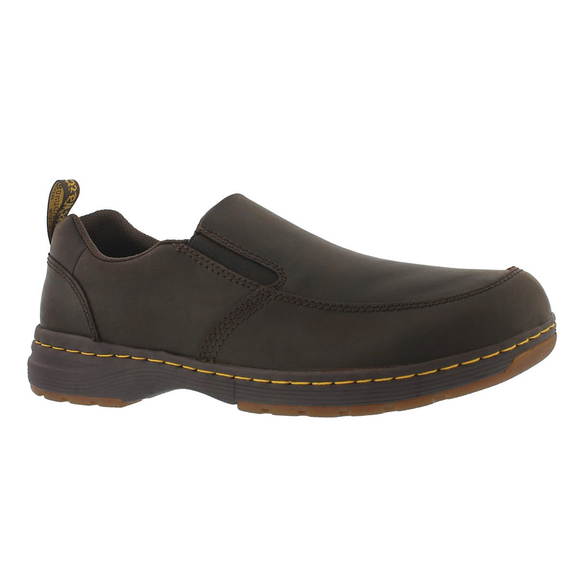 Men's BRENNAN brown slip on casual shoe
