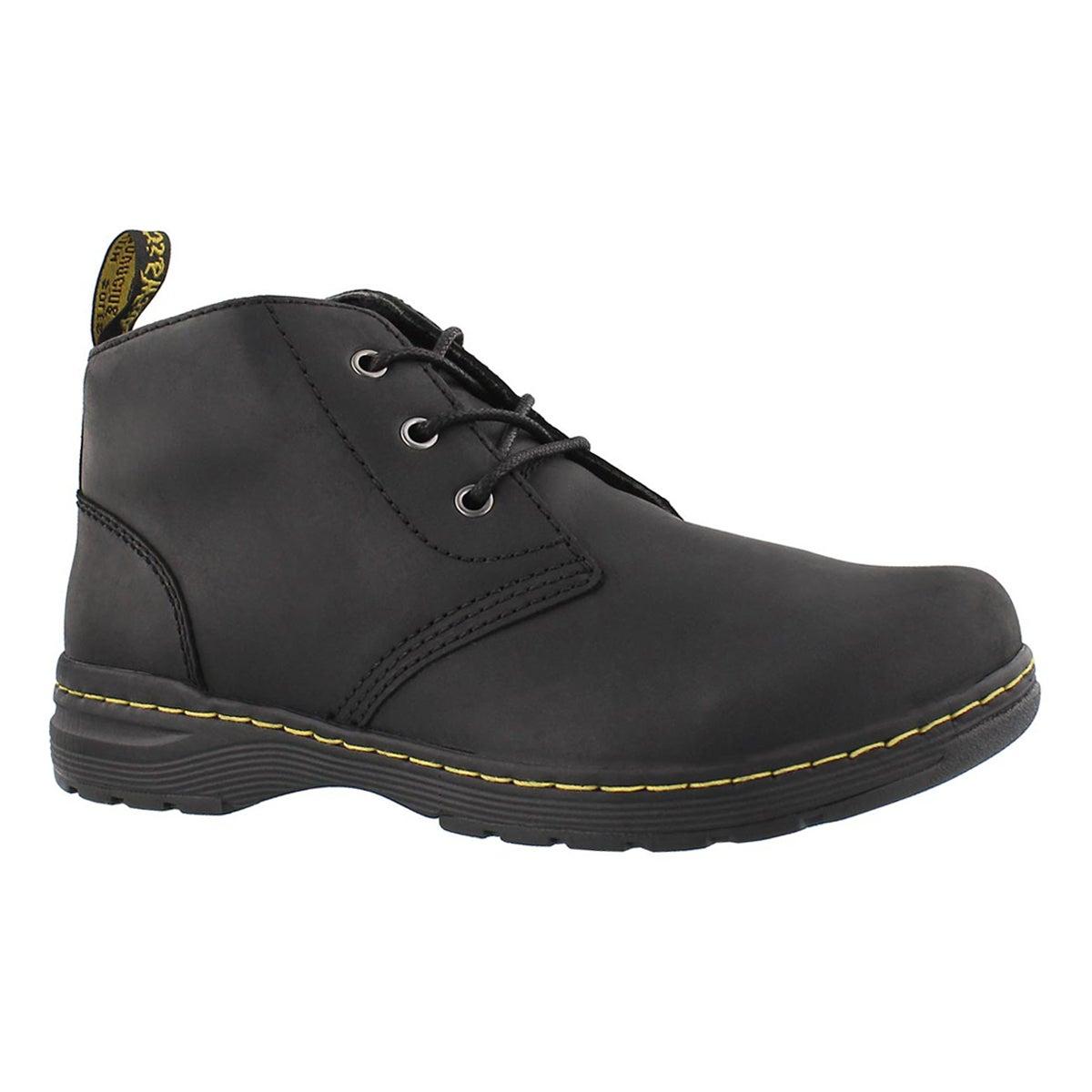 Men's EMIL black oily leather chukka boot
