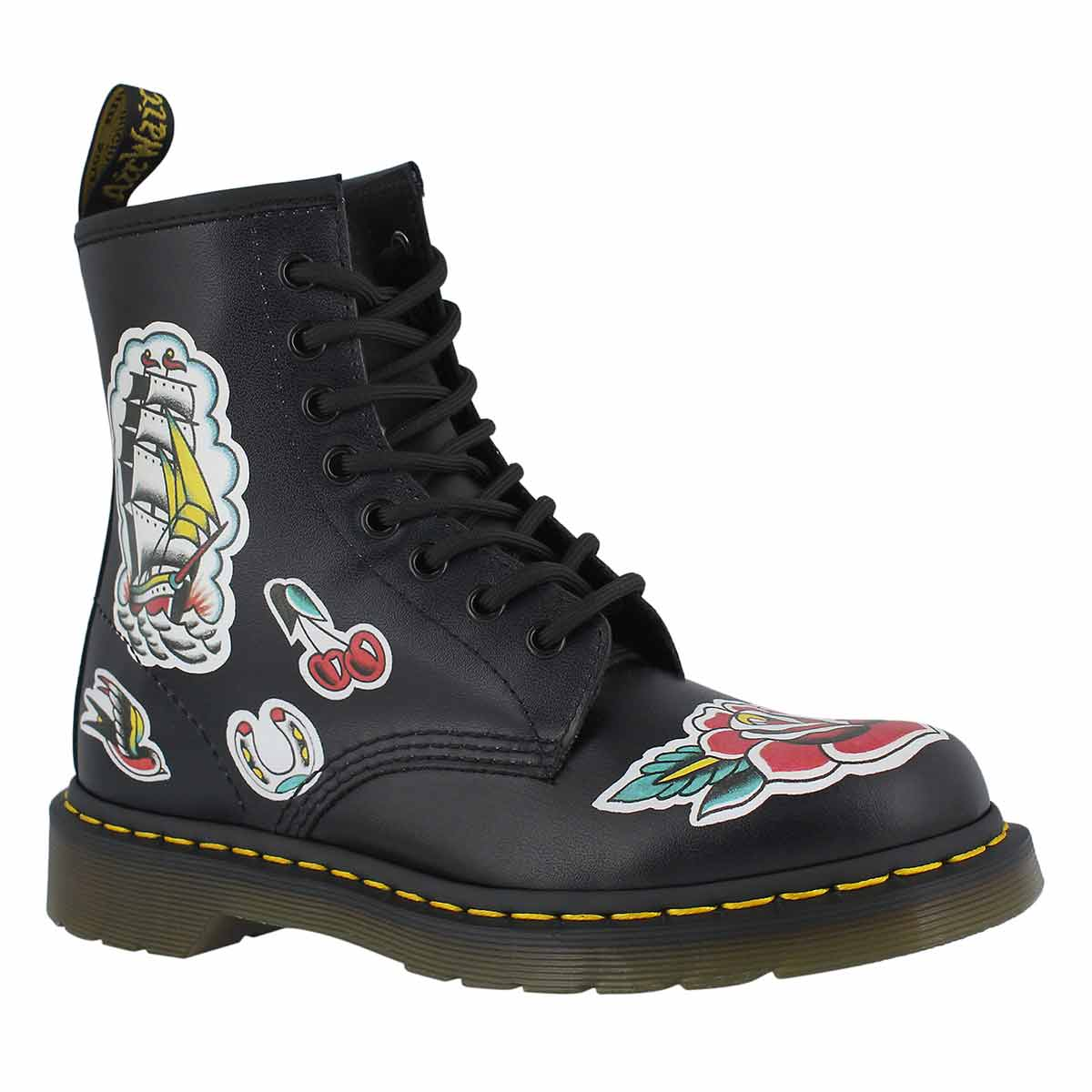 Lds 1460 O.T Asia blk/grey boot