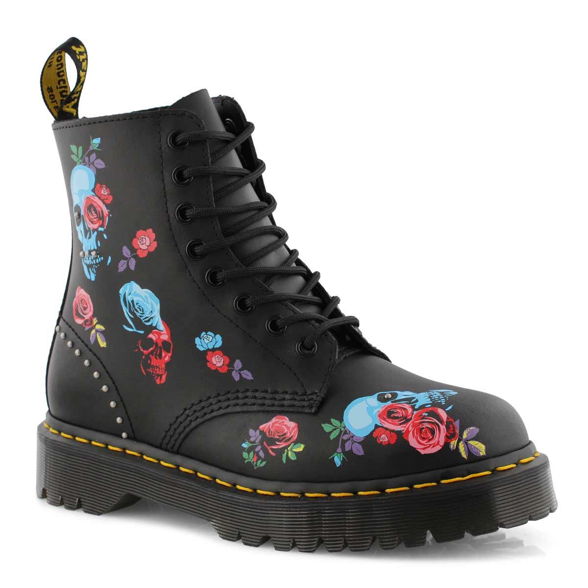 Lds 1460 Bex Rose black 8 eye boot