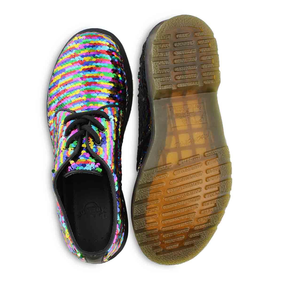 Lds 1461 Sequin rainbow 3 eye oxford