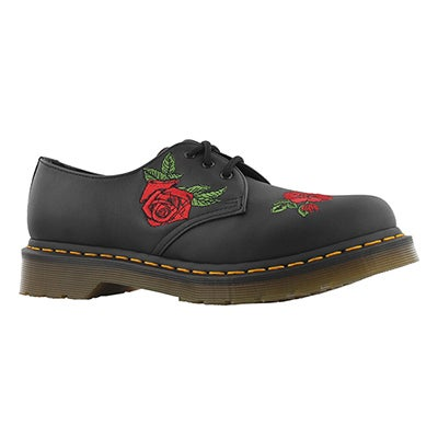 Lds Vonda 1461 3 eye blk/red oxford