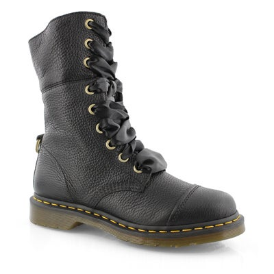 Lds Aimilita 9-eye black fold down boot