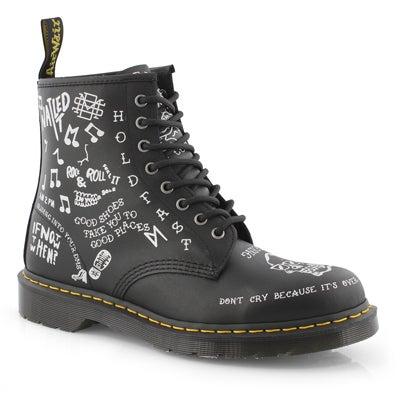 Mns Scribble 1460 black/white boot