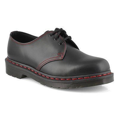 Mns 1461 Red Stitch blk casual oxford
