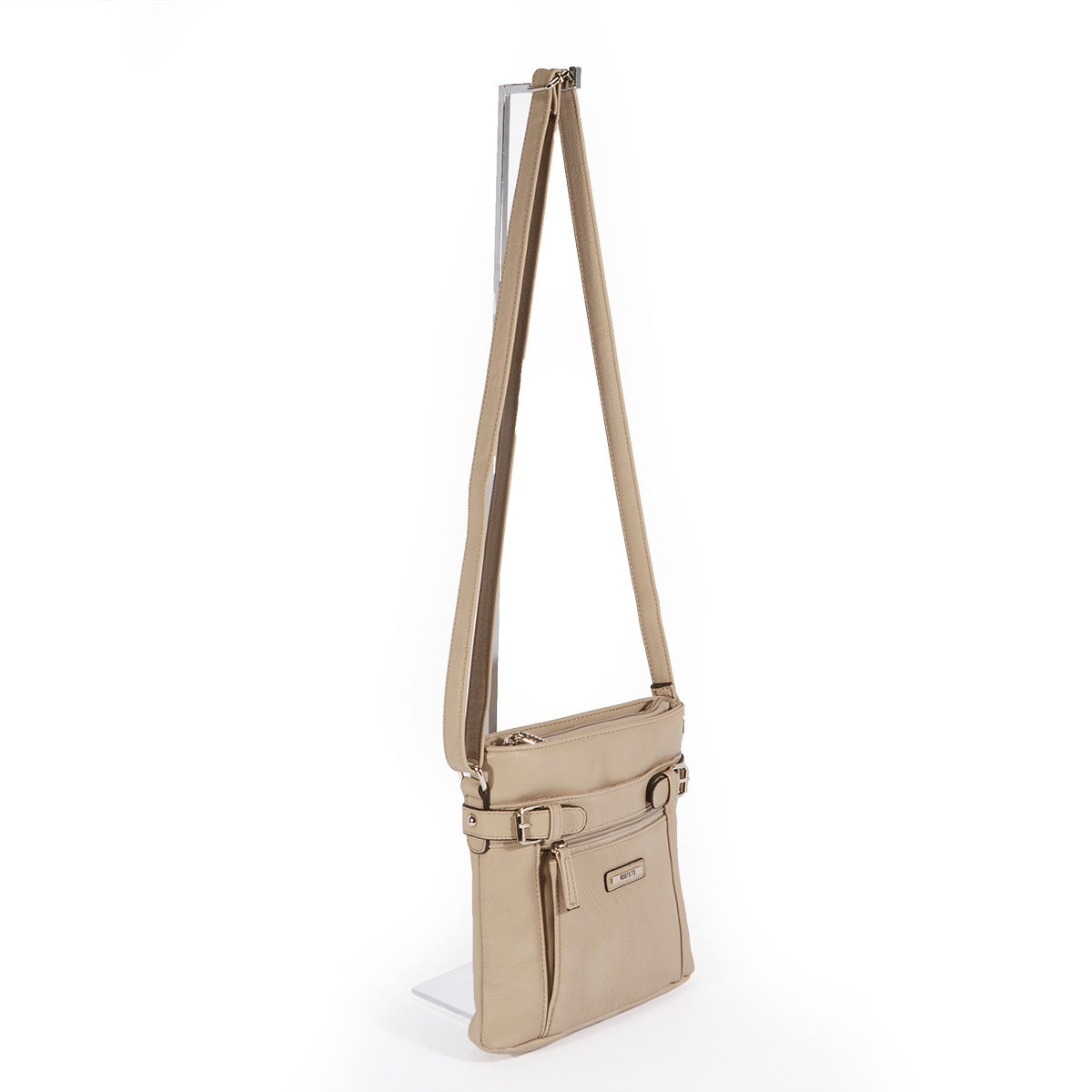 Lds Roots73 taupe cross body w/organizer