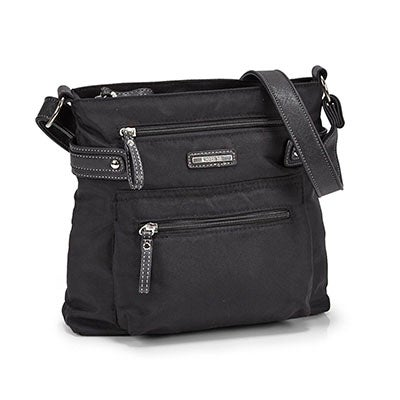 Roots Women's R4301 black north/south cross body bag