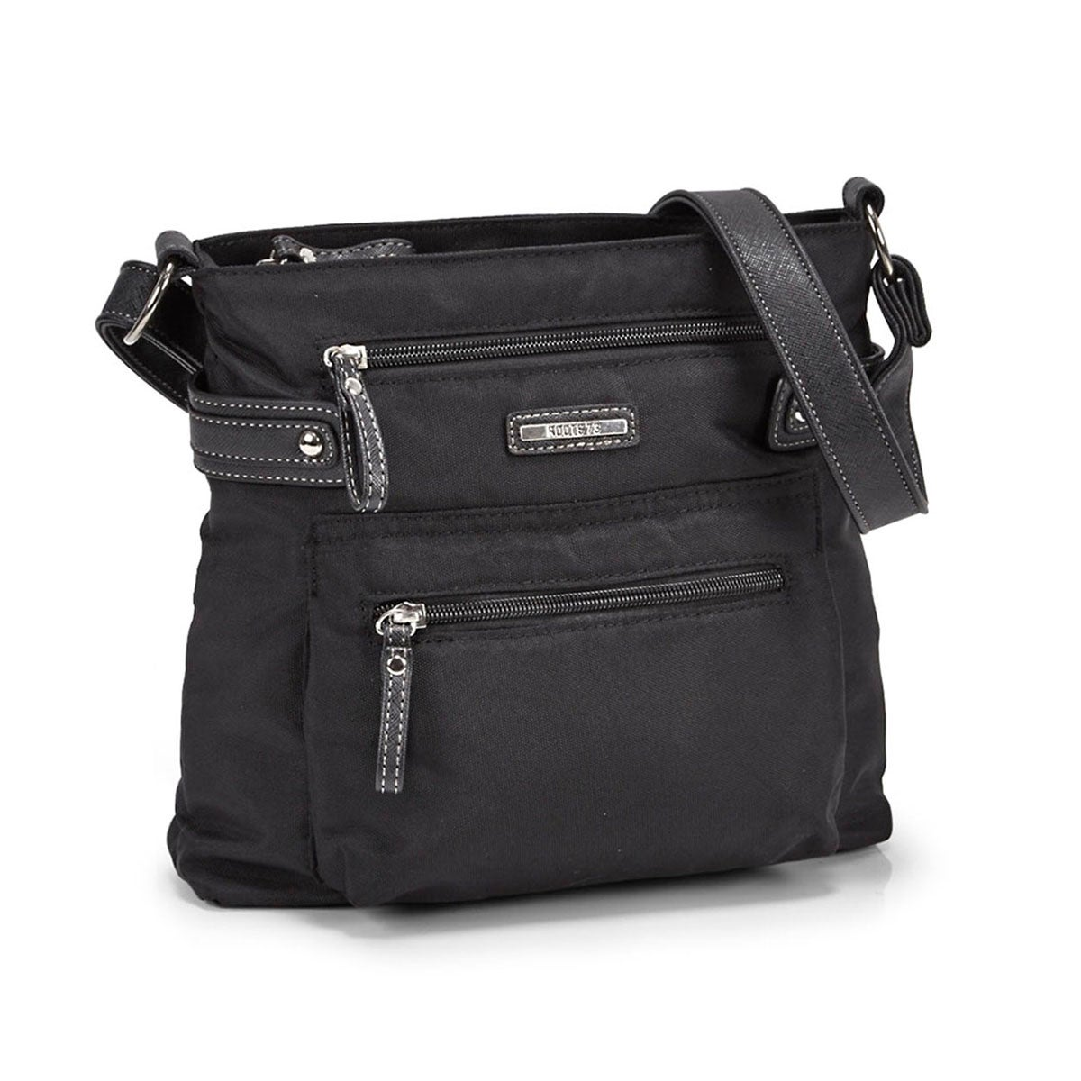 Women's R4301 black north/south cross body bag