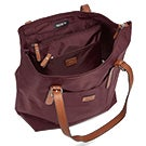 Lds Roots73 burgundy 2 in 1 tote bag