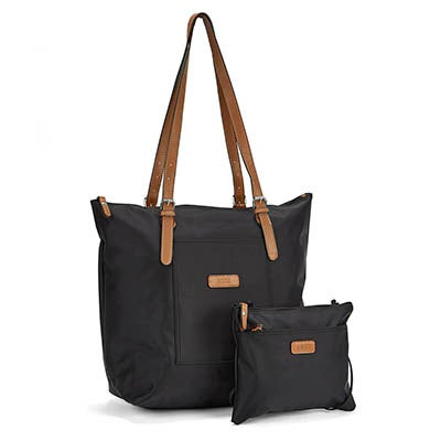 Roots Women's R4324 black 2 in 1 tote/crossbody bag