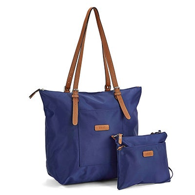 Roots Women's R4324 navy 2 in 1 tote/crossbody bag