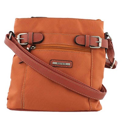 Roots Women's Roots73 R4344 orange top zip crossbody bag