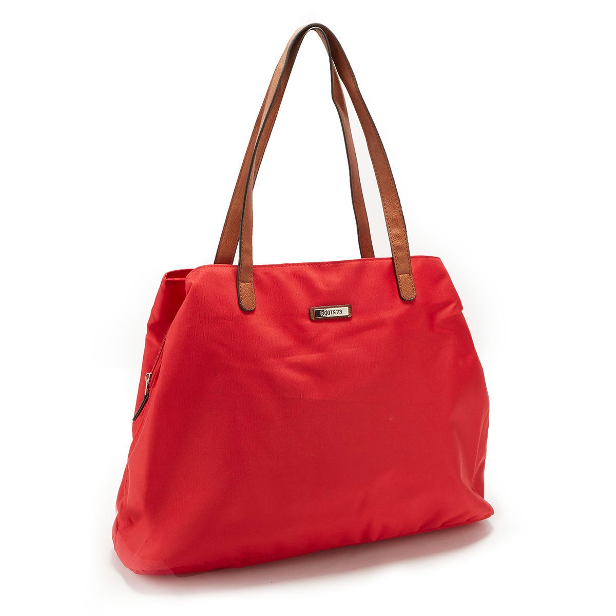 Women's ROOTS73 R4413 red 3 compartment satchel