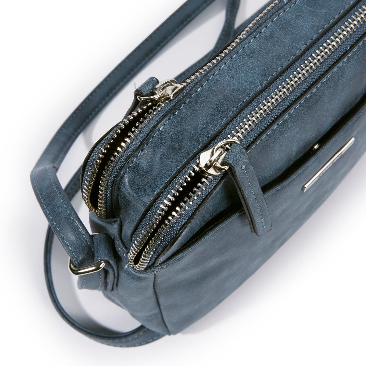 Lds Roots73 blue 2 compartment crossbody