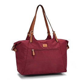 Roots Women's R4700 burgundy large tote bag