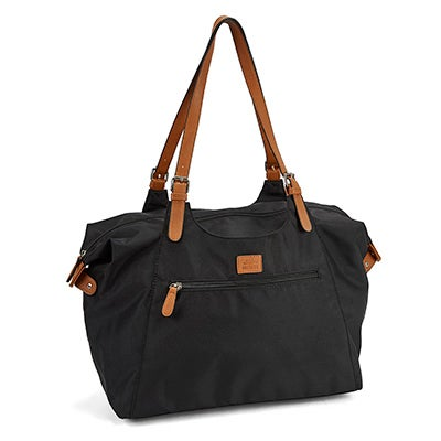 Lds Roots73 black nylon large tote bag