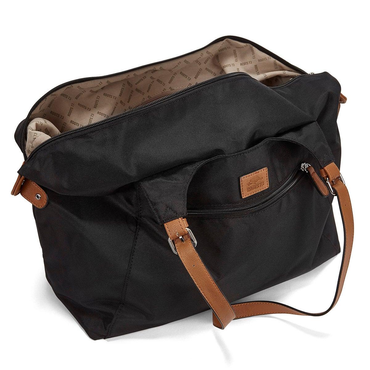 Lds Roots73 black nylon large tote bag