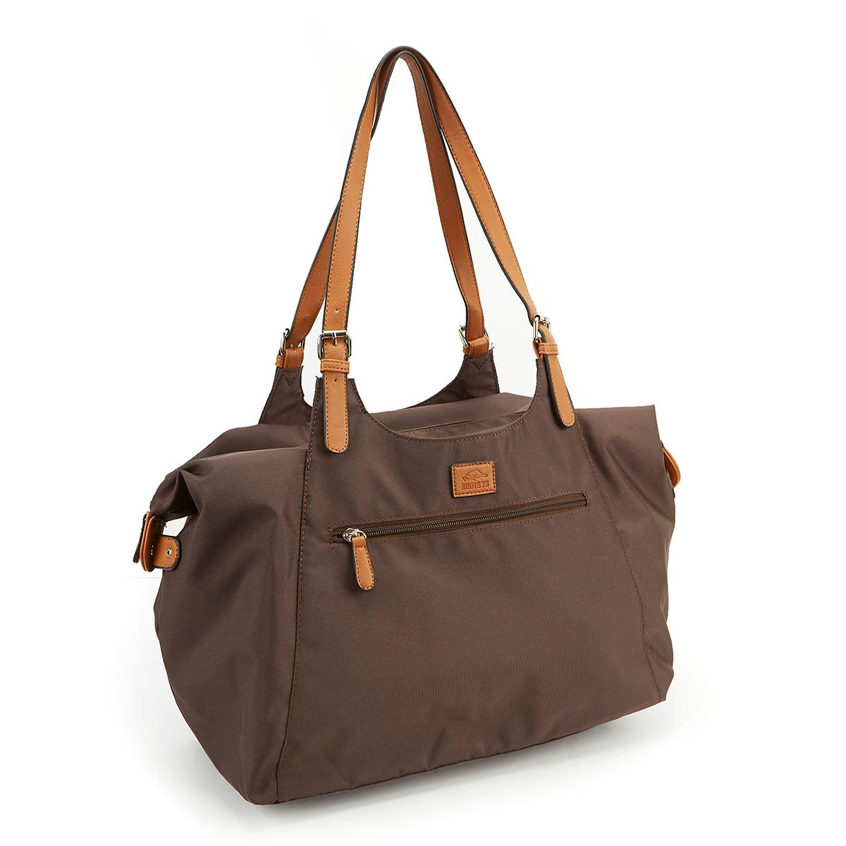 Lds Roots73 brown nylon large tote bag