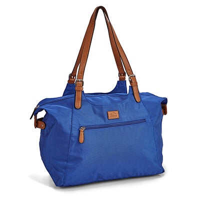 Roots Women's R4700 cobalt large tote bag