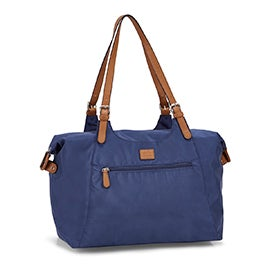 Roots Women's R4700 blue large tote bag