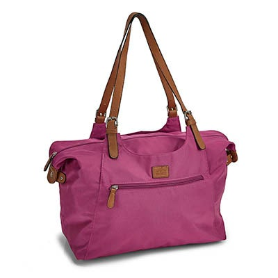 Roots Women's R4700 fuchsia large tote bag