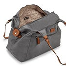 Lds Roots73 grey nylon large tote bag