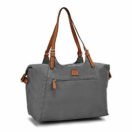 Roots Women's R4700 grey large tote bag