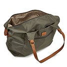 Lds Roots73 khaki nylon large tote bag