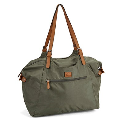 Roots Women's R4700 khaki large tote bag