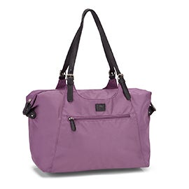 Roots Women's R4700 lilac nylon large tote bag