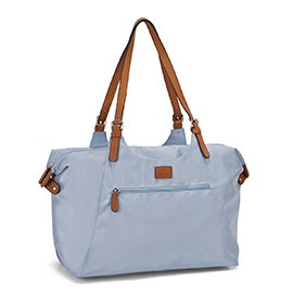 Roots Women's R4700 light blue nylon large tote bag