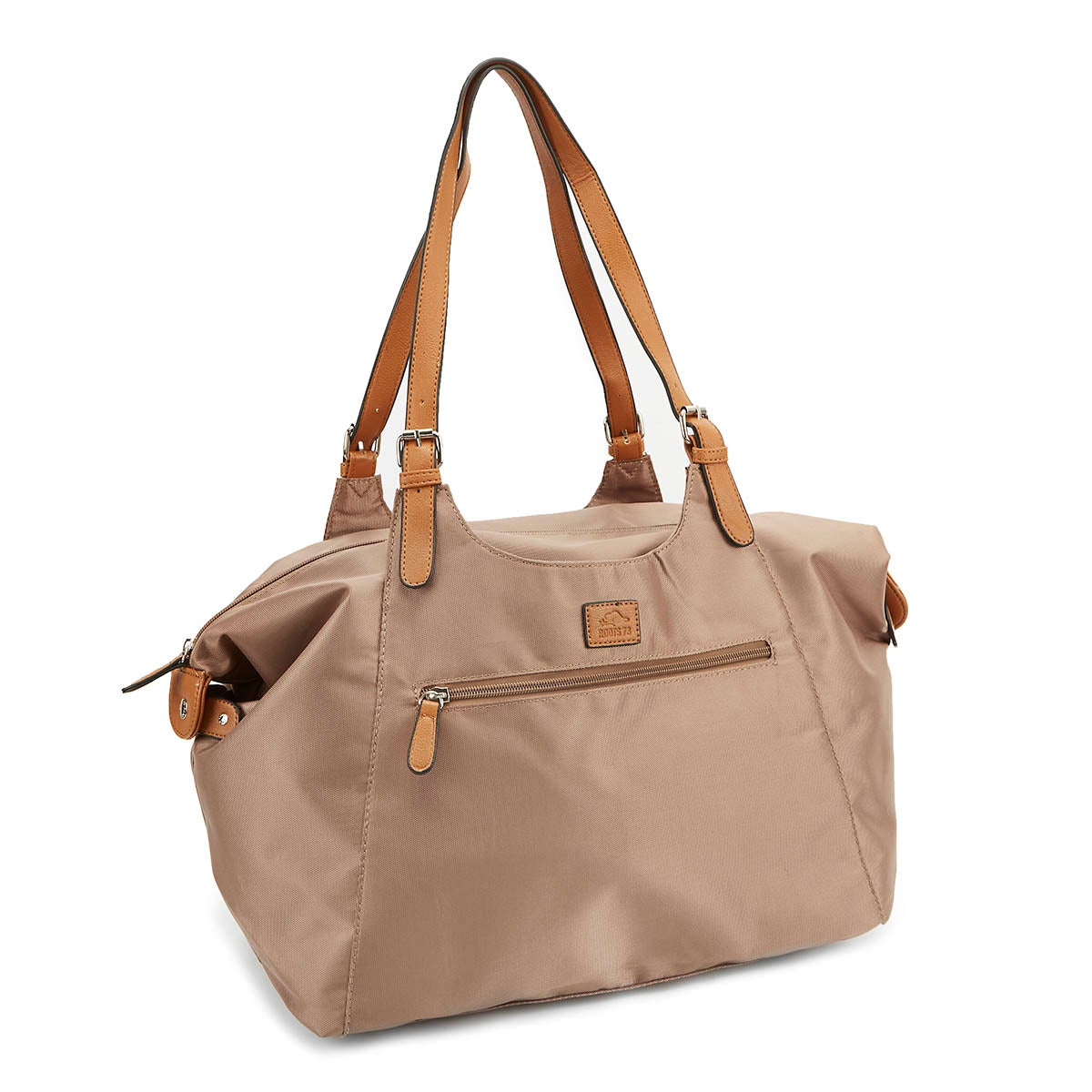 Lds Roots73 mocha nylon large tote bag