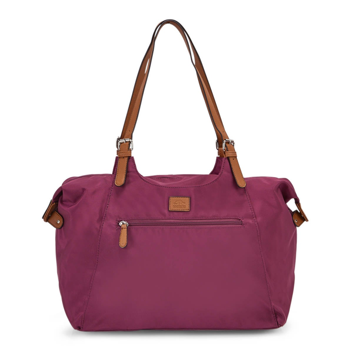 Lds Roots73 magenta nylon large tote bag