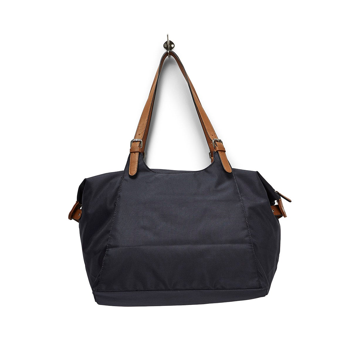 Lds Roots73 navy nylon large tote bag
