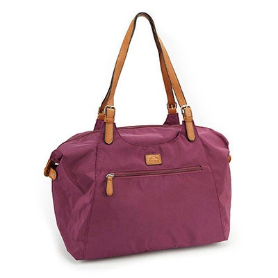 Roots Women's R4700 purple large tote bag