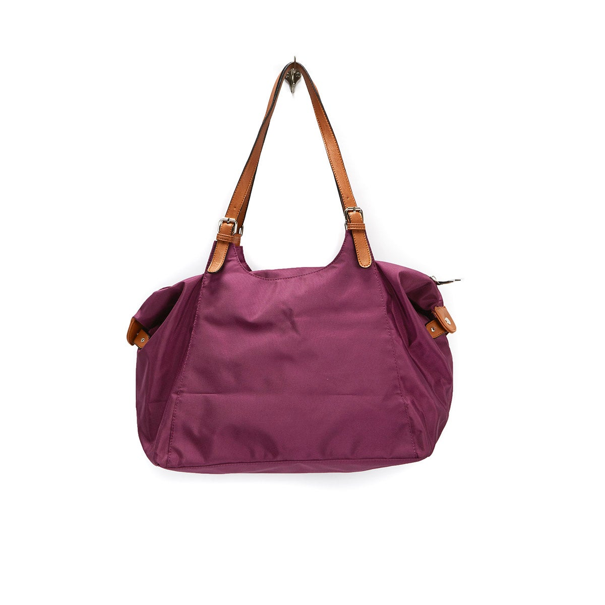 Lds Roots73 purple nylon large tote bag