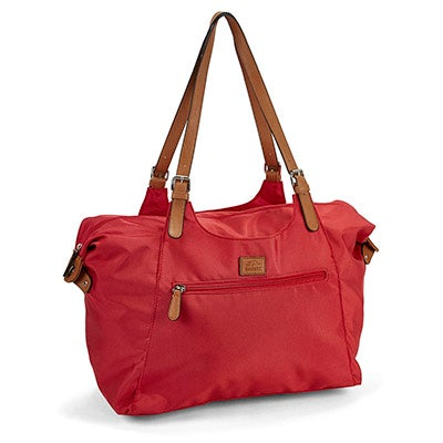 Roots Women's R4700 red large tote bag
